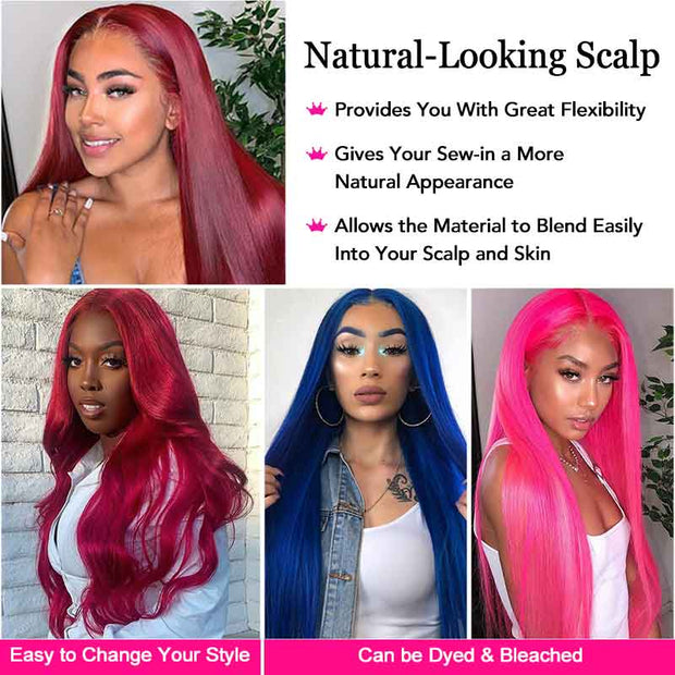 Straight Hair 4*4 Lace Closure Human Hair Wigs Color BUG Lace Front Human Hair Wig 150% Density Pre Plucked Colored wig AliGrace