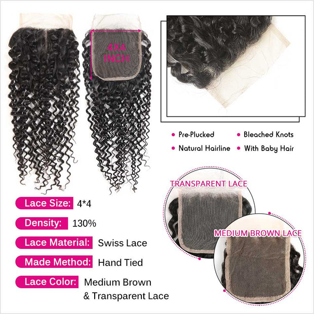 Brazilian Kinky Curly Hair 4 Bundles-3
