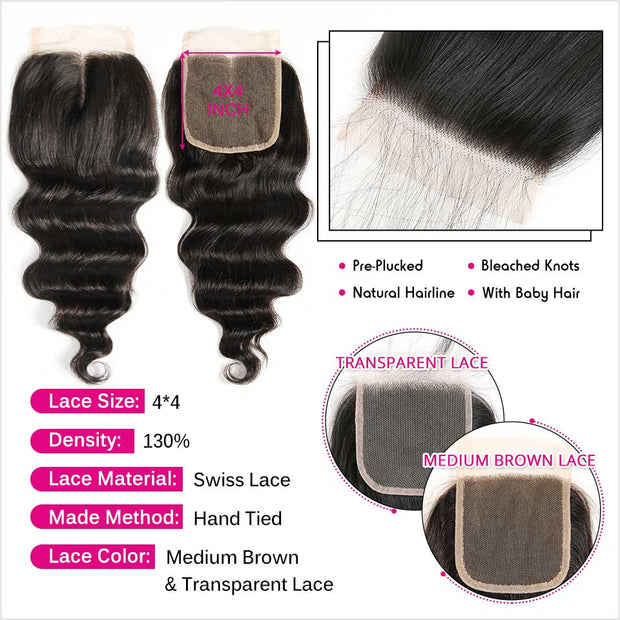 Loose Wave 4x4 Lace Closure-2