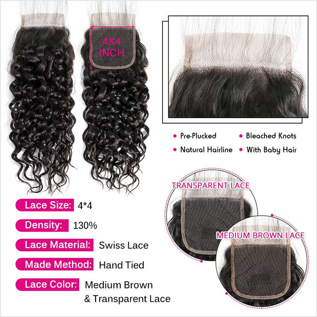 Brazilian Water Wave Hair 4 Bundles-3