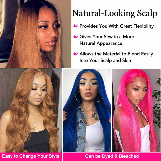 Ali Grace Straight Closure Wigs T1b/30# Colored Wigs For Women 150% Density 4*4 Lace Closure Human Hair Wigs Colored wig AliGrace