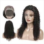 Curly Human Hair Lace Closure Wigs-5
