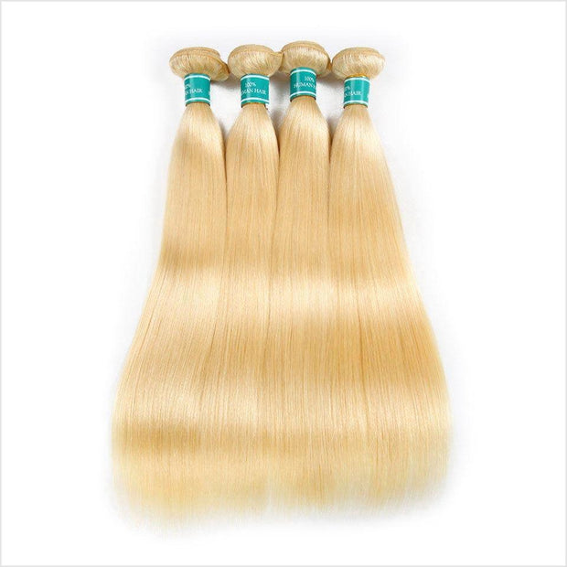 Blonde  Straight Human Hair 4 Bundles-8