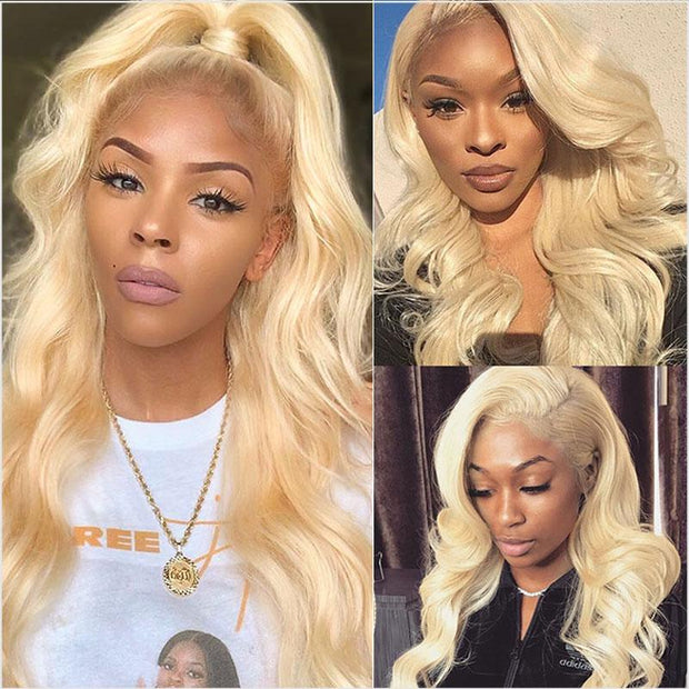 613 Blonde Color Human Hair Wigs-14