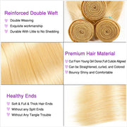 Ali Grace Hair 613 Blonde Straight Hair 100% Virgin Human Hair Weave 4 Bundles Human Hair Extensions