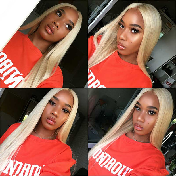 ALI GRACE Straight 613 Blonde 4x4 Lace Closure Pre Plucked With Baby hair 4*4 Lace Closure AliGrace