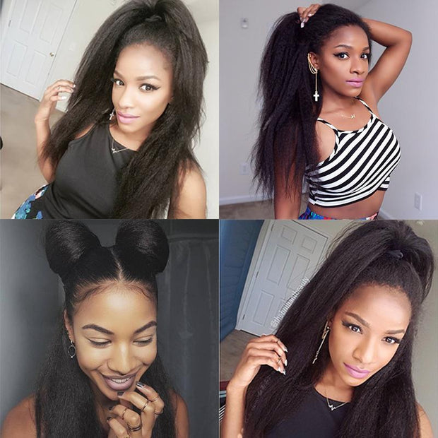 Kinky Straight Human Hair 4 Bundles-8