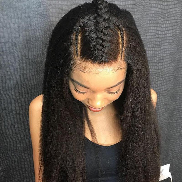 Kinky Straight Human Hair 4 Bundles-7