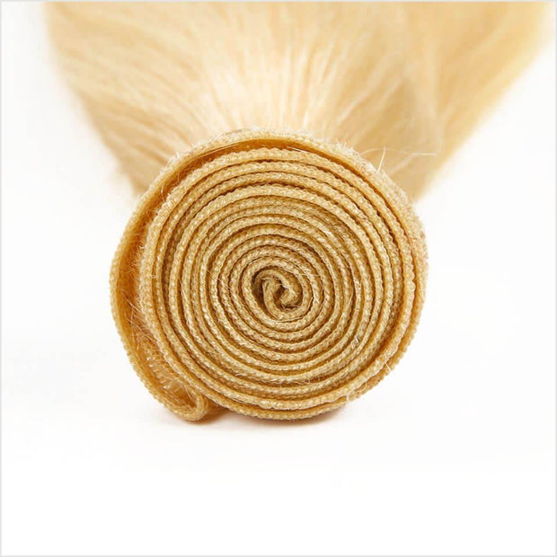 613 Blonde Color Virgin Straight Human Hair 1 Bundles-4