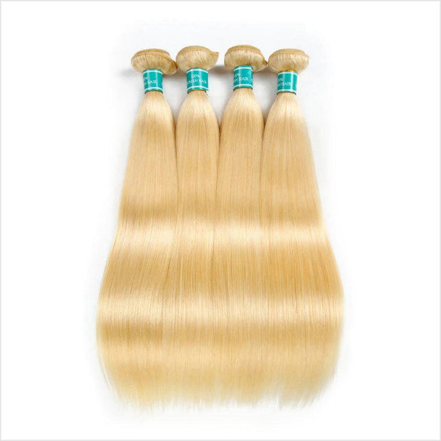 Ali Grace Straight Hair 3 Bundle Deals 100% Virgin Human Hair Extensions Blonde Color Virgin Straight Hair Weft