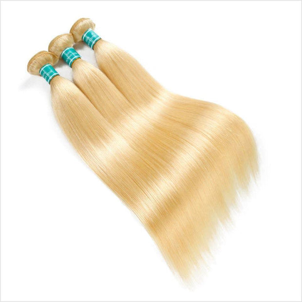 613 Blonde Color Virgin Straight Human Hair 1 Bundles-2