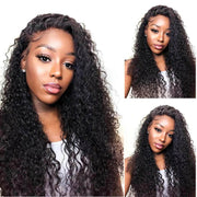 Curly Human Hair Lace Closure Wigs-2