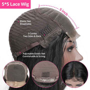 Ali Grace Hair Invisible Lace Front Wigs 5*5 Closure Wigs HD Lace Pre Plucked Straight Wigs Glueless Lace Wigs HD Transparent Lace Wigs AliGrace