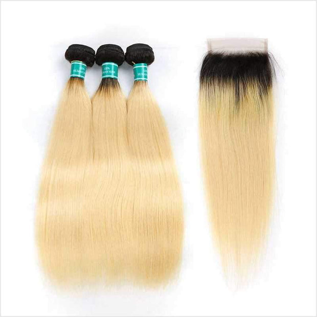 Ombre Brazilian Straight Hair Bundles-5