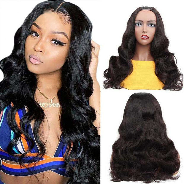 Ali Grace Glueless Body Wave U Part Wigs For Women Brazilian U Part Human Hair Wigs U Shape Lace Wigs Machine Made Wig AliGrace