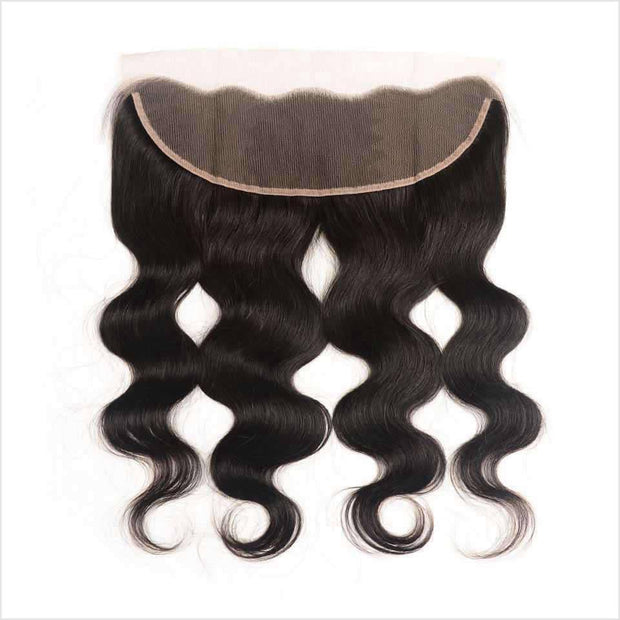 Ali Grace Malaysian Body Wave Ear To Ear Lace Frontal Middle Free Part 13*4 Swiss Lace Frontal Medium Brown/ Transparent Lace Human Hair