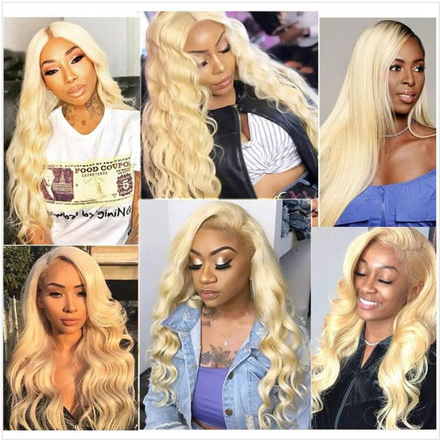 613 Blonde Color Human Hair Wigs-15