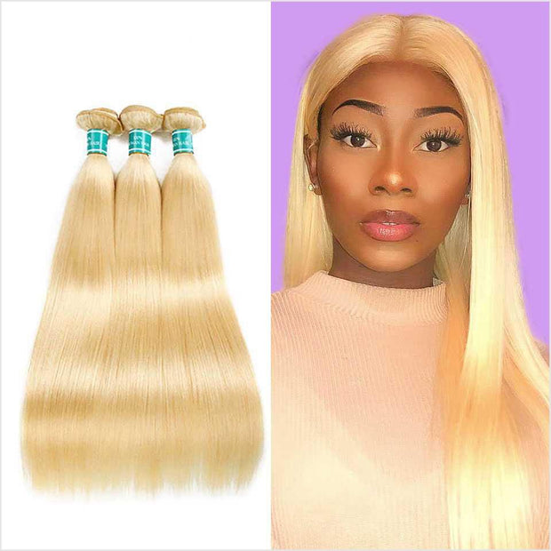 Brazilian 613 blonde Straight Hair 3 Bundles-8