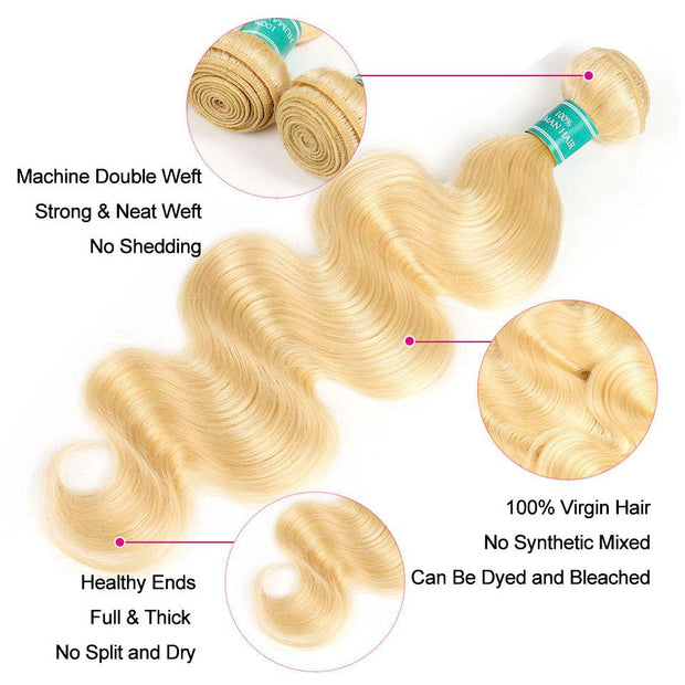 Ali Grace Body Wave Hair 3 Bundles 100% Virgin Hair Extensions Blonde Color Real Human Hair Body Wave Free Shipping