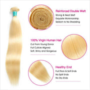Ali Grace 613 Blonde Color Virgin Straight Human Hair 1 Bundles Dyed Easily