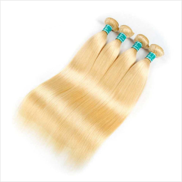 Blonde  Straight Human Hair 4 Bundles-9