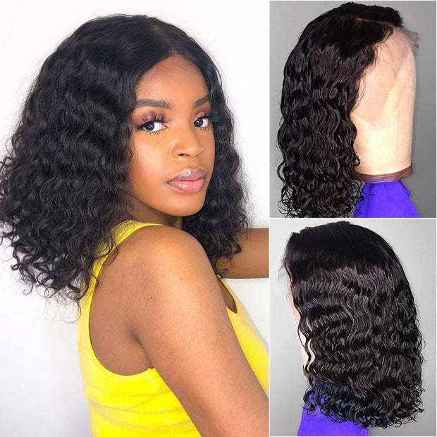 Loose Wave Black Bob Wigs-10