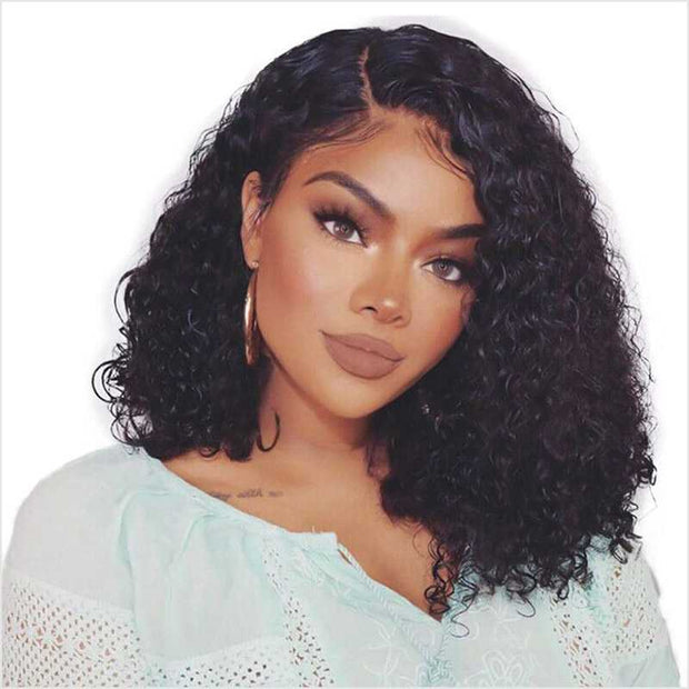 Ali Grace 13*6 Short Curly Bob Wigs 250% Full Density Short Curly Lace Front Wigs With Natural Baby Hair