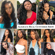 Ali Grace Malaysian Body Wave 4 Bundles With Closure 100% Virgin Human Hair With Closure Free Middle Part Malaysian Hair With Closure AliGrace