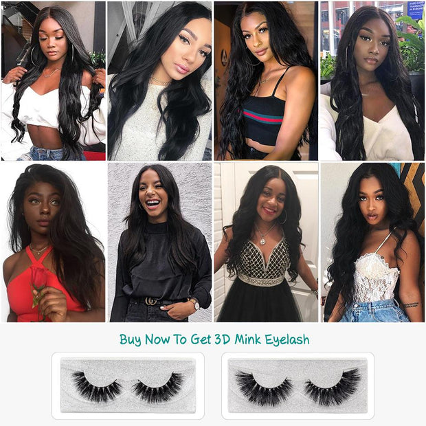 Ali Grace Hair Malaysian Body Wave 5*5 Lace Closure Pre Plucked Hairline With Baby Hair Middle/Free Part Lace Closure Virgin Hair