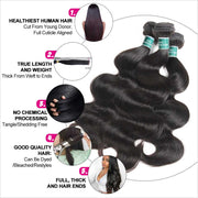Virgin Human Hair 4 Bundles-7