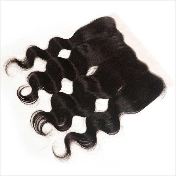 Ali Grace Peruvian Body Wave 13*4 Lace Frontal Middle Free Part Medium Brown Transparent Lace Frontal Virgin Human Hair