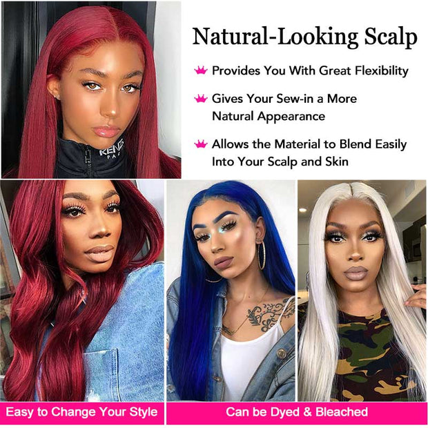 Ali Grace Wigs 99J Lace Front Wig Pre-plucked Brazilian Straight Wigs 13x4 Lace Front Human Hair Wigs 99J Wig