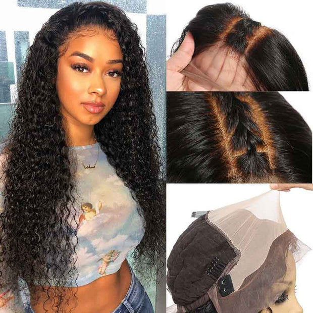 Ali Grace Hair 13x6 Lace Frontal Wig Pre Plucked Fake Scalp Wig Kinky Curly Lace Front Human Hair Wigs For Black Women Fake Scalp Wig AliGrace
