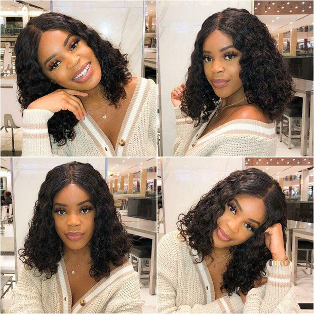 Loose Wave Black Bob Wigs-14