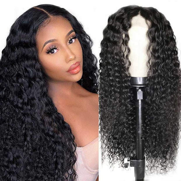 Ali Grace Deep Wave Lace Part Human Hair Wig With Baby Hair 150% 180% Density 13x5 T Part Lace Front Wigs Lace Part Wig AliGrace