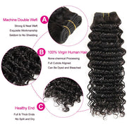 Deep Wave Hair With Closure-3