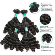Ali Grace Funmi Curly Hair 3 Bundles No Short Hair Best Super Double Drawn Hair Online