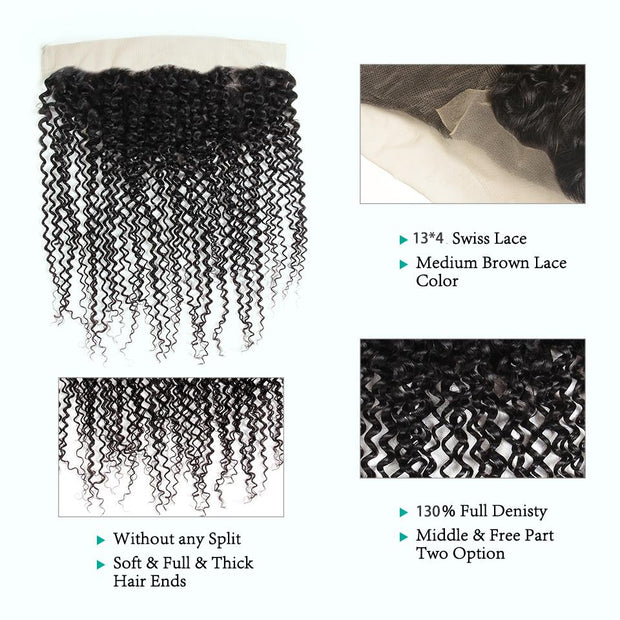 Ali Grace Brazilian Kinky Curly Lace Frontal