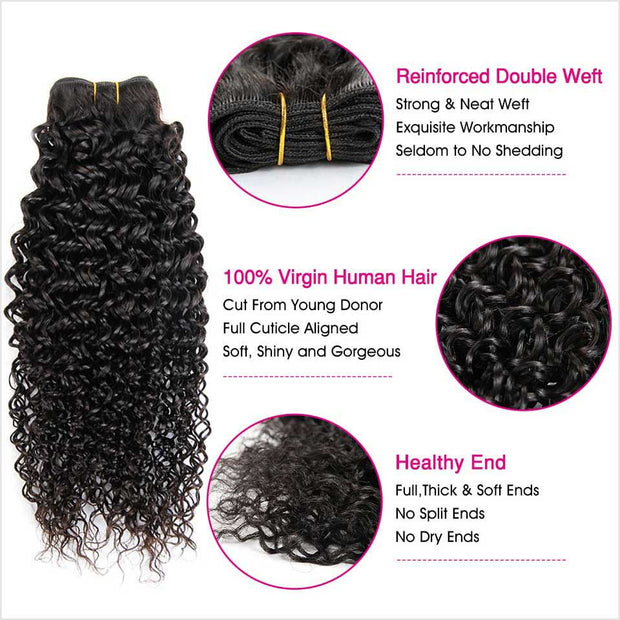 Kinky Curly Human Hair 4 Bundles-6