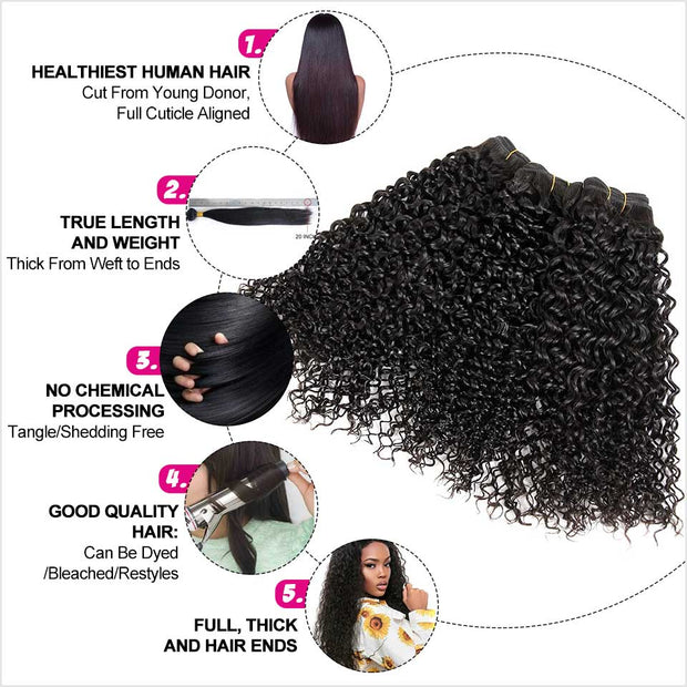 Kinky Curly Human Hair 4 Bundles-8