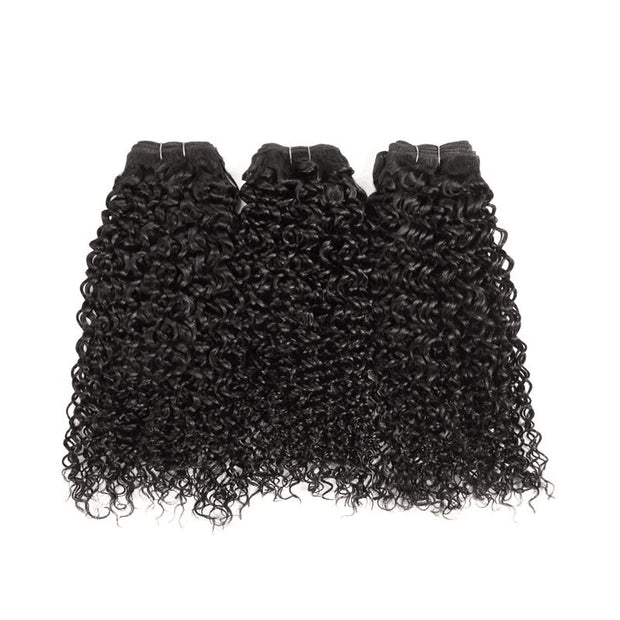 Peruvian Kinky Curly 3 Bundles With Closure