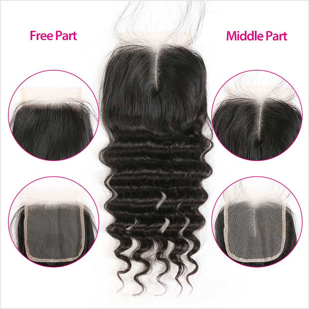 Peruvian Loose Wave 5x5 Lace Closure Top Quality Loose Wave Swiss Lace Closure for Wholesale