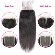 Straight 4x4 Lace Closure-4
