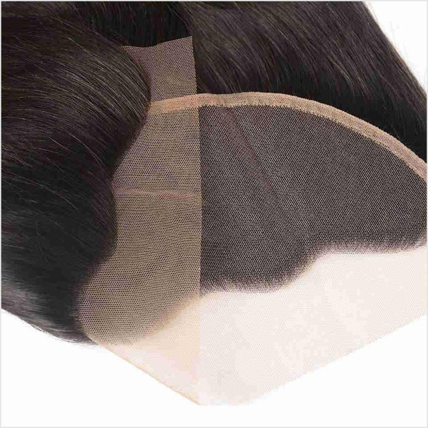 Brazilian Body Wave 13X4 Lace Frontal 130% Density Free Part Lace Fronal with Baby Hair