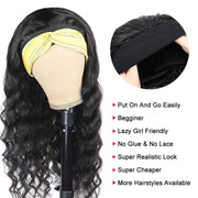 Ali Grace Brazilian Loose Wave Headband Wig Human Hair Glueless Full Machine Made Wigs Scarf Wig For Black Women Headband Wig AliGrace