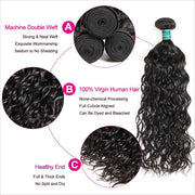 Brazilian Water Wave Hair 4 Bundles-2