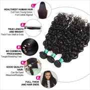 Water Wave 4 Bundles Human Hair Wigs-9