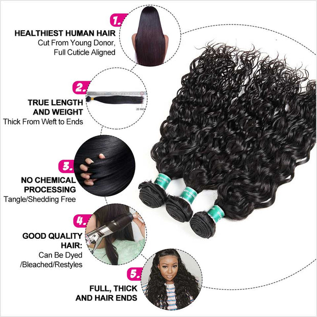 Water Wave 3 Bundle Human Hair-10