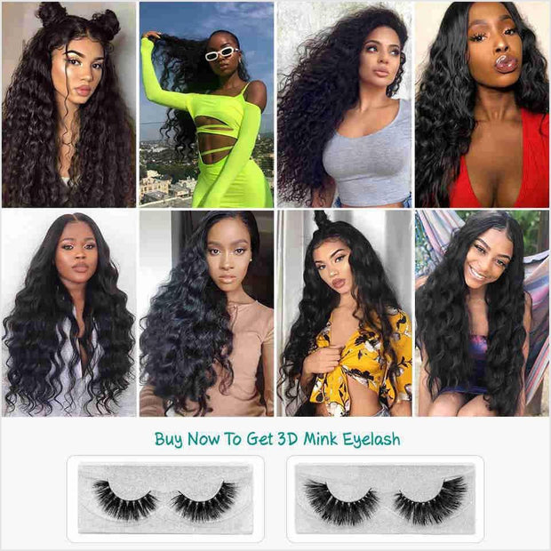 Ali Grace Peruvian Loose Wave Hair Lace Closure 5x5 Middle and Free Part Lace Closure Swiss Lace 100% Virgin Human Hair