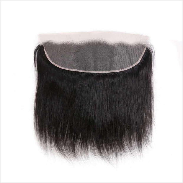 Malaysian Straight Hair 13*4 Lace Frontal Free Part Narutal Color Straight Human Hair Lace Frontal 130% Density